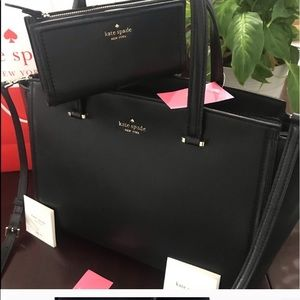 KATE SPADE PATTERSON DRIVE BAG AND WALLET.
